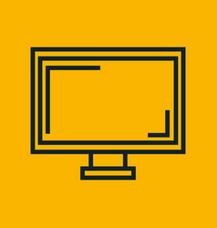 monitor screen computer yellow social network vector image
