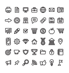 office business and finance icons vector image