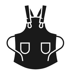 open apron icon simple style vector image