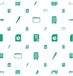 page icons pattern seamless white background vector image