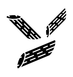 Penne glyph icon vector