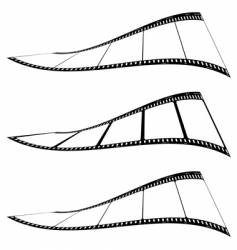 photo film strip twist vector image
