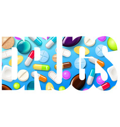 pills background vitamin tablets for good health vector image