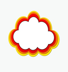 Rainbow web cloud vector