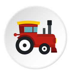 red toy train icon circle vector image