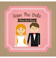 Relationship wedding and love design vector image