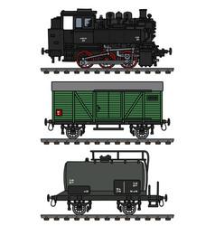Retro freight steam train vector