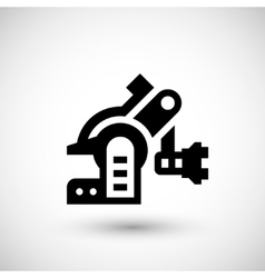 Robotic machine part icon vector