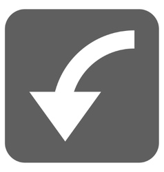 Rotate CCW Flat Squared Icon vector