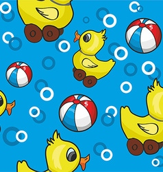 Rubber duck pattern background vector