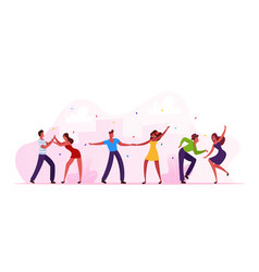 salsa dancers male and female characters in vector image