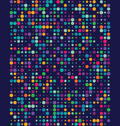 seamless pattern with colorful dots vector image