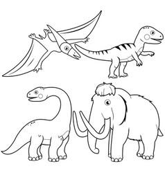 set dinosaurs vector image