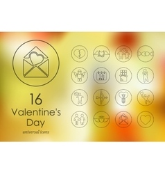 Set of Valentineys Day icons vector image