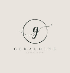 simple elegant initial letter type g logo sign vector image