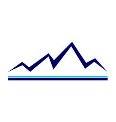 simple mountains logo icon vector image