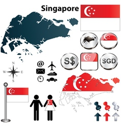 Singapore map vector image