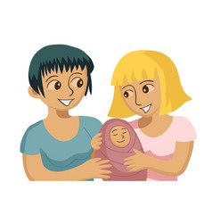 smiling gay female couple vector image