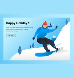 snowboard winter sport vector image