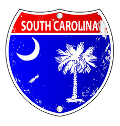 South carolina flag icons as interstate sign vector