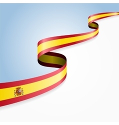 Spanish flag background vector