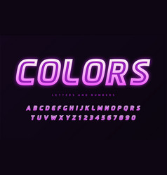 stylish design colorful glowing sans vector image