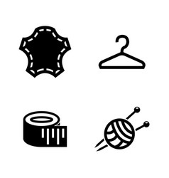 Tailoring sewing clothes simple related icons vector