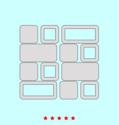tile set it is color icon vector image