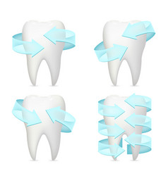 tooth arrow protection realistic 3d poster vector image