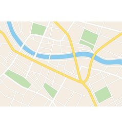 town streets on the plan vector image