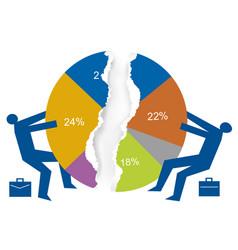 Trade war market share concept vector