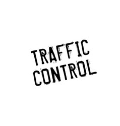 Traffic control rubber stamp vector