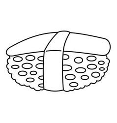 Unagi sushi icon outline style vector