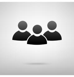Users society black icon vector image