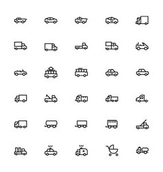 Vehicles Line Icons 3 vector image