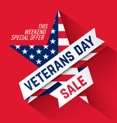 Veterans day sale banner vector