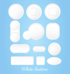 white buttons vector image