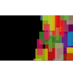 Abstract background from geometrical figures vector image