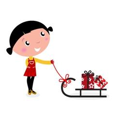 cute winter child vector image