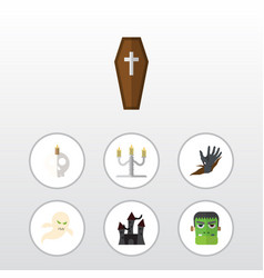 flat icon celebrate set of candlestick monster vector image