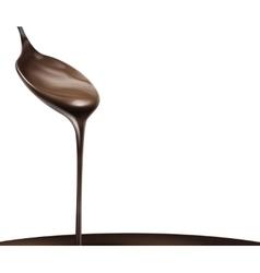 Liquid chocolate vector