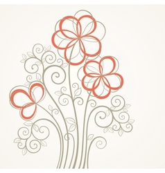 Abstract flower card vector image vector image