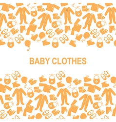 baby clothes back vector image vector image