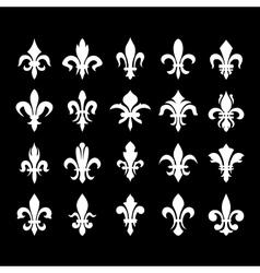 Heraldic symbols fleur de lis vector image vector image
