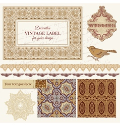 Persian Tiles and Birds vector image vector image