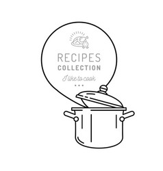 pot cooking icon pan boiling pot steam icon vector image