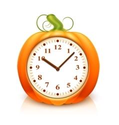 Pumpkin Clock vector image vector image