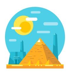 Pyramid of Giza flat design landmark vector image