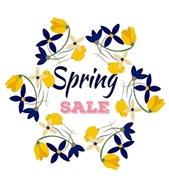 Spring sales background with flowers Can also be vector image