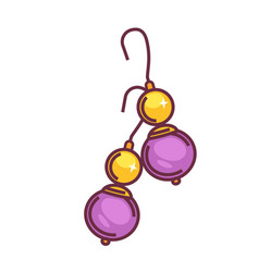 a pair of purple drops vector image vector image